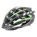 Kask rowerowy NEX-ONE, tech: in-mold, siatka, czarno-zielony, roz:M (55-58cm)