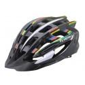 Kask rowerowy NEX-ONE, tech: in-mold, siatka, czarno-tęczowy, roz:L (58-61cm)