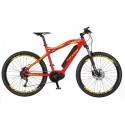 """E-Bike Totem Eagle 27,5"""", roz. ramy 18"""", 1x9 speed, motor centralny COMP - 350 Watt, bateria 14Ah Samsung, przerzutka tył Alivio, hamulce tarcz. Shi.  MT400, kolor czerwony"""