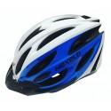 Kask rowerowy, tech. in-mold, kolor: biało-niebieski, roz. L: 58-61 cm [PROMCJA-W]